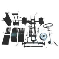 Комплект для переоборудования мотоблока в мототрактор №3 ( механичские тормоза )