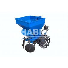 Картофелесажалка однорядная к мототрактору с бункером для внесения удобрений