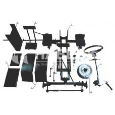 Комплект для переоборудования мотоблока в мототрактор №2 (механические тормоза)